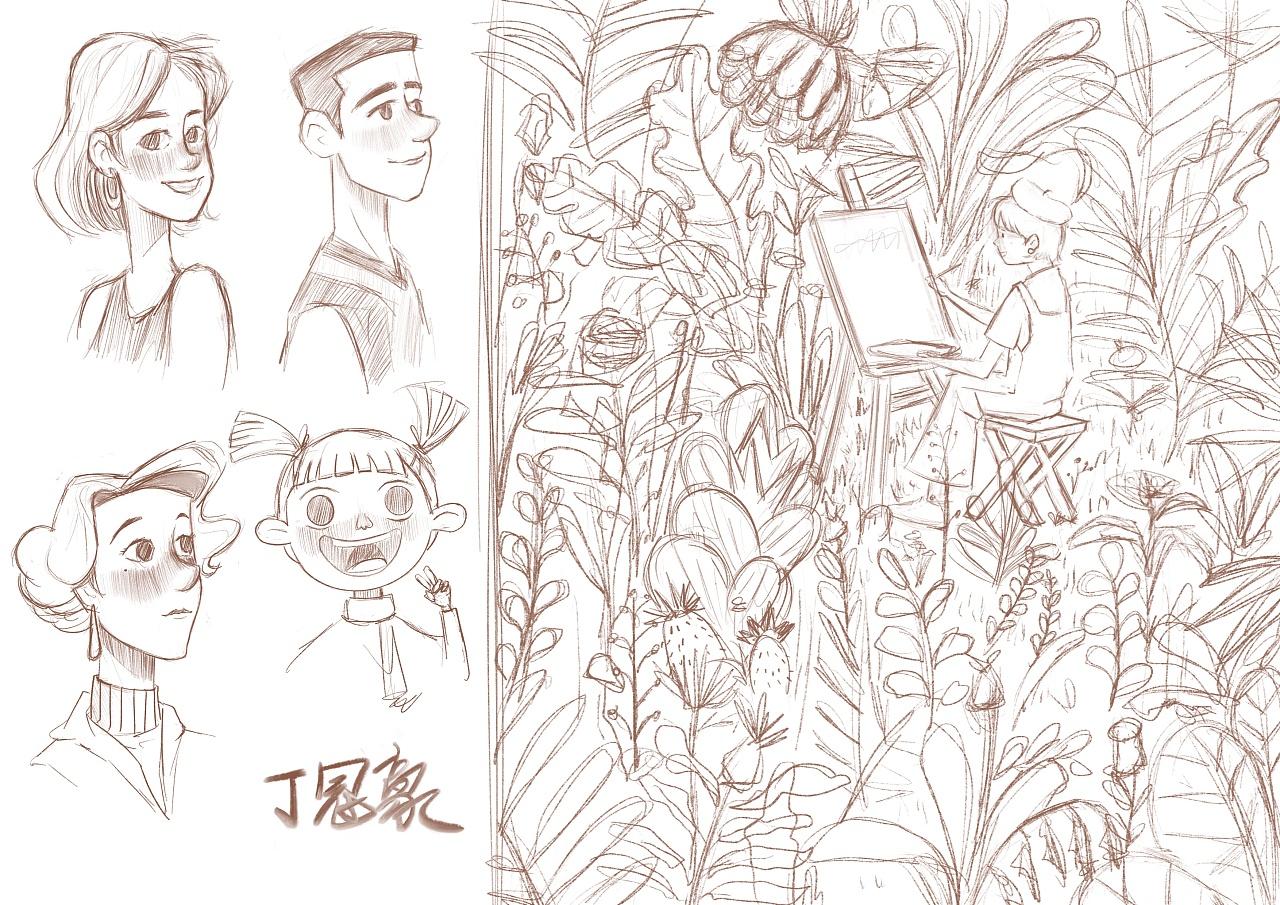 适合初学者临摹的动物线稿,简单易学,很容易上手的绘画线稿