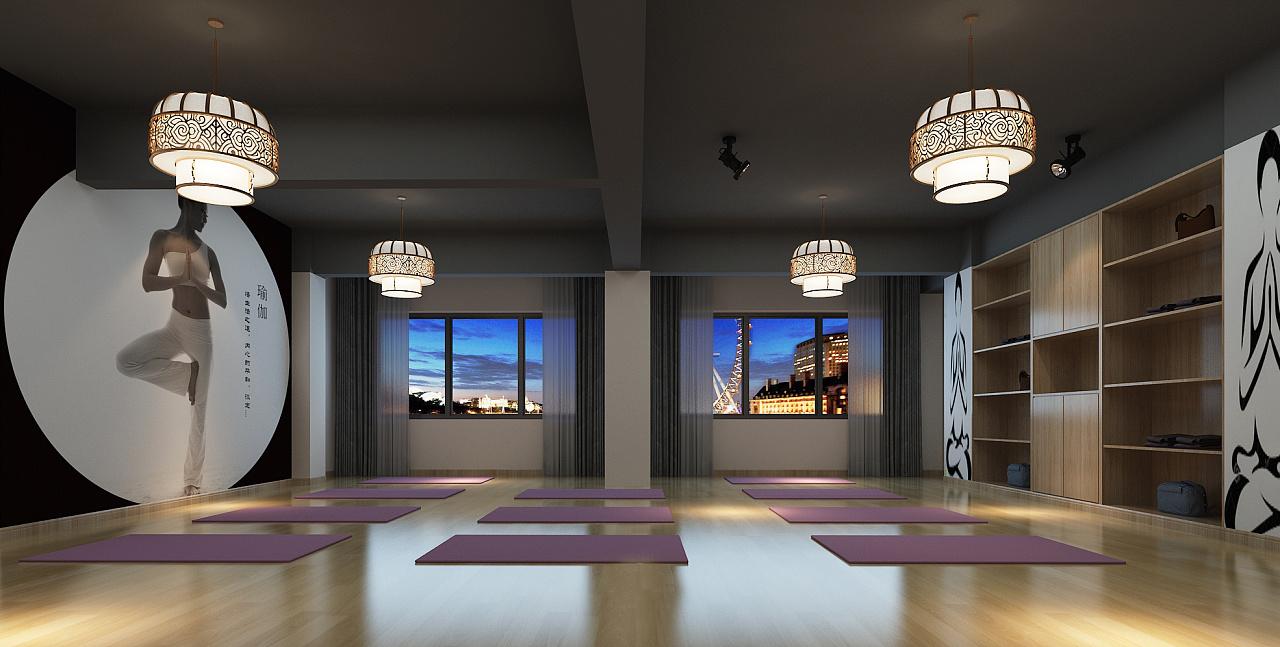 成都瑜伽舞蹈教室装修设计 肚皮舞教室装修设计 成都专业瑜伽舞蹈教室