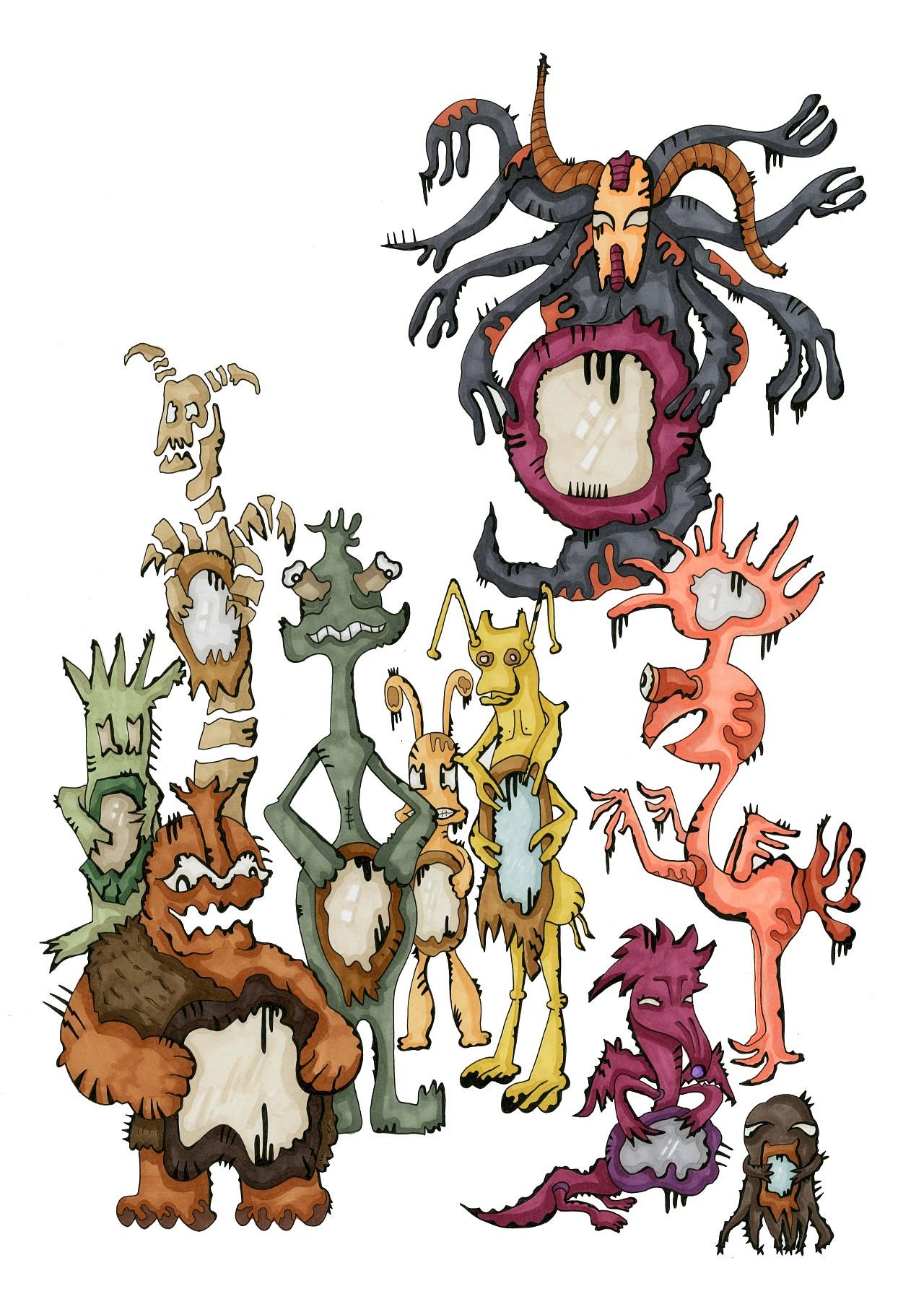 十八层地狱 概念插画 动漫作品 动漫作品