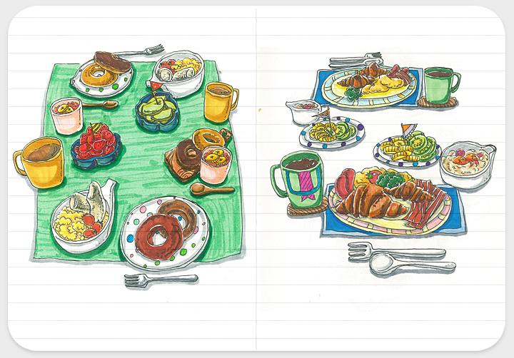 爱的早餐系列手绘小插画-2