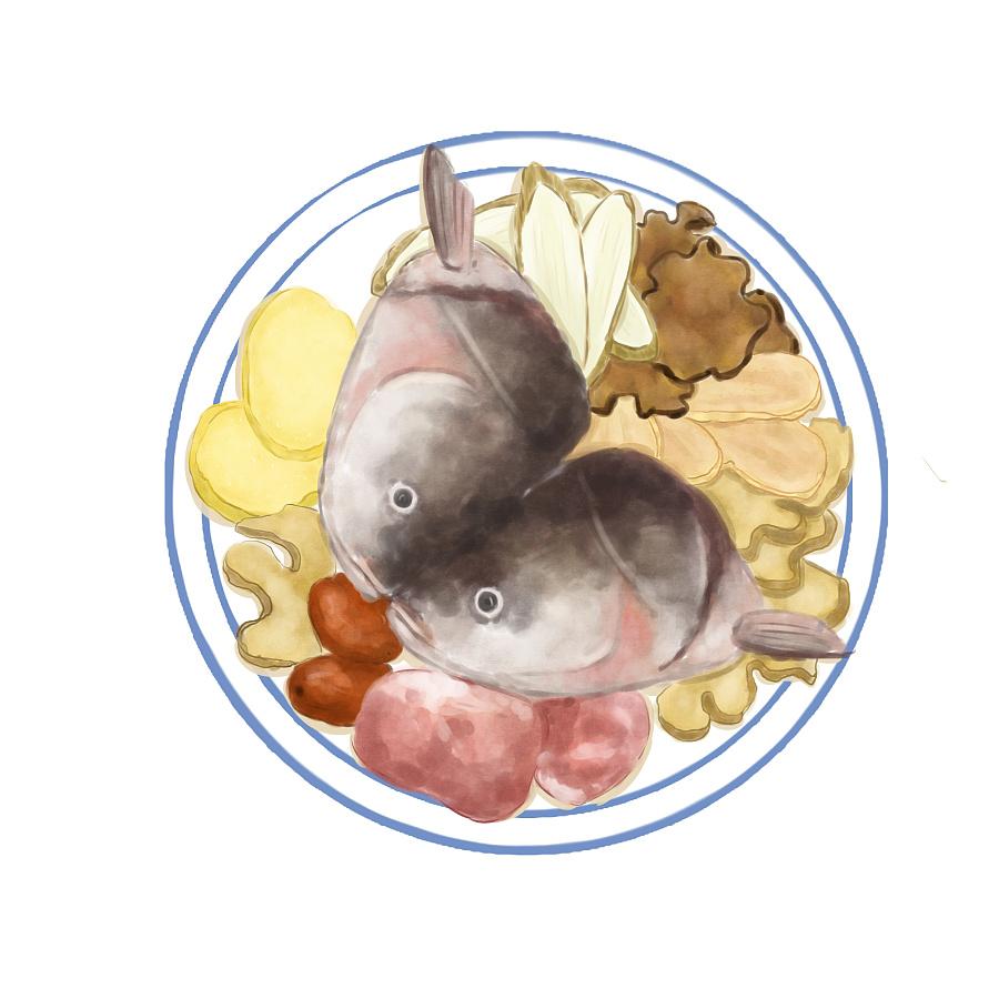 原创作品:手绘汤疗食材