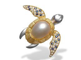 海龟异形珍珠首饰设计制作过程记录