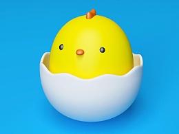 【C4D学习】小鸡蛋仔
