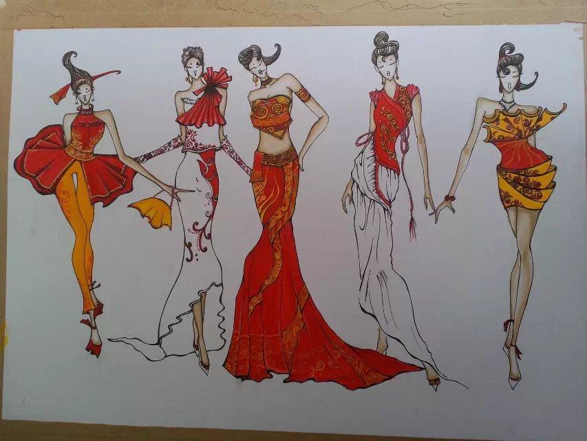 服装设计手绘作品