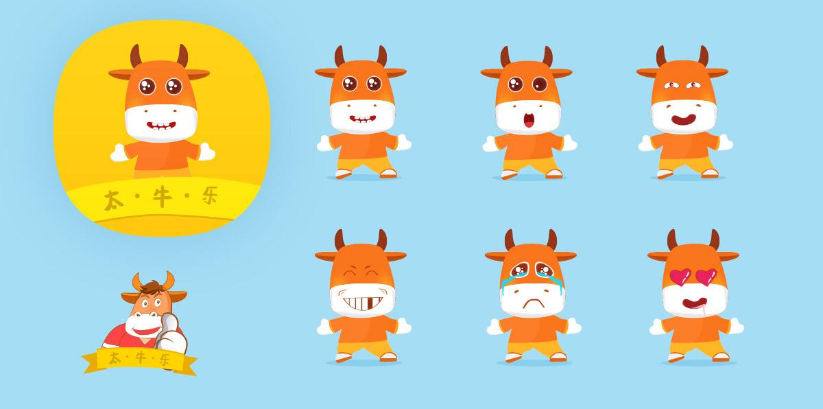 太牛乐 卡通形象 桌面图标设计|ui|app界面|jihenan