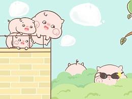 微信表情 皮呦piyo--一只成精的猪猪
