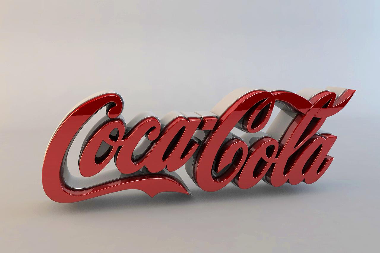 C4D 可口可乐logo立体字
