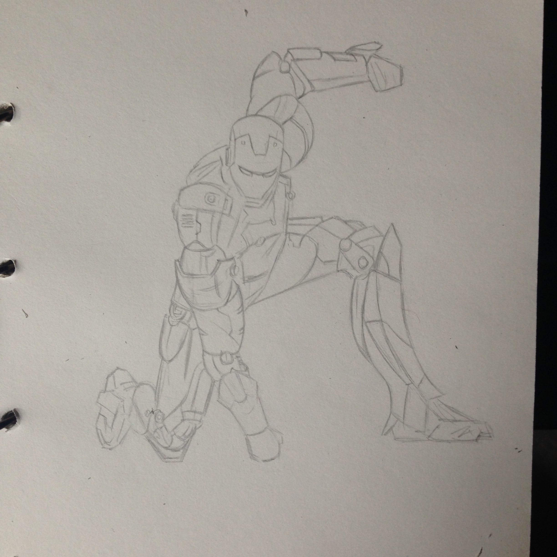 【练习】手绘钢铁侠