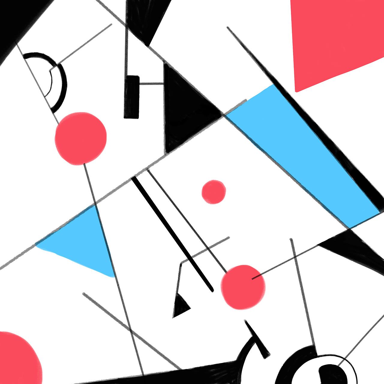 面|抽象的喜怒哀乐点线面|体现点线面的黑白画|抽象形态构成图片建筑图片