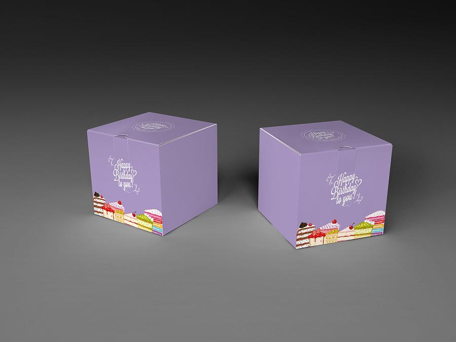 几款蛋糕盒设计图|包装|平面|xiaoyudian112233