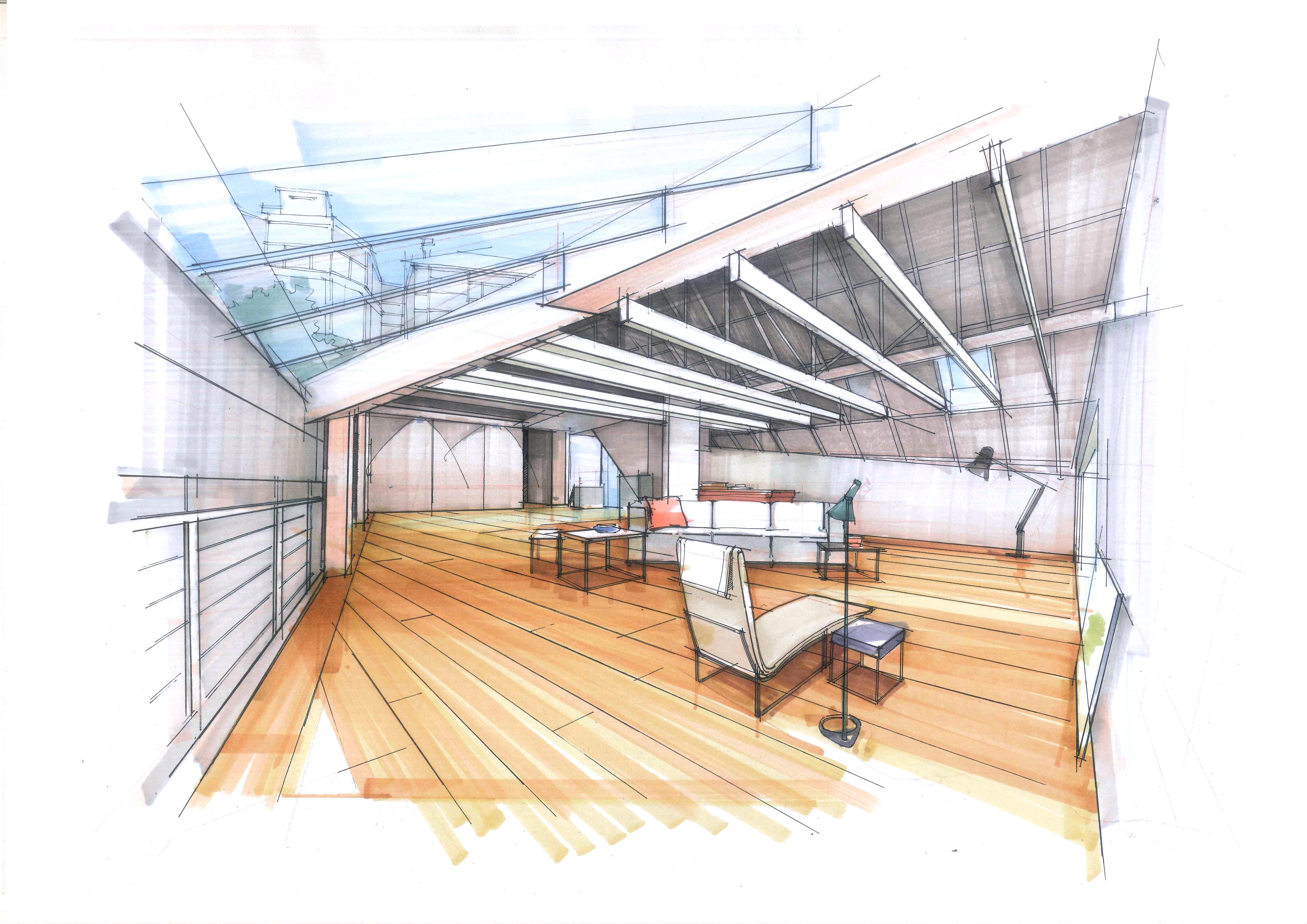 室内手绘|空间|室内设计|拓儿 - 原创作品 - 站酷
