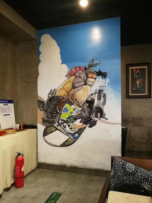 餐馆 手绘墙