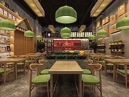 中式快餐店面设计
