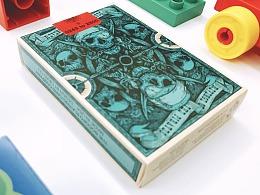 海盗扑克设计绘制
