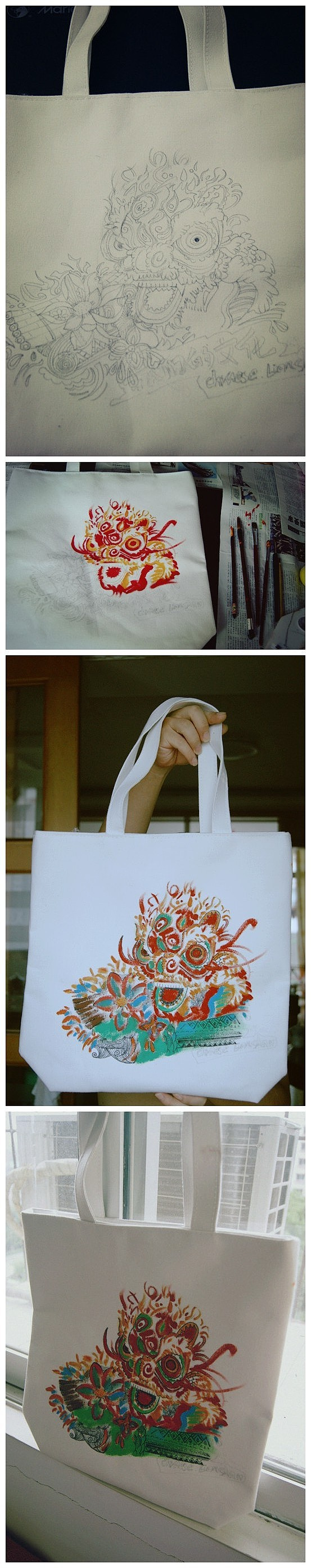 广州帆布包_手绘帆布袋 插画 插画习作 HXL1115 - 原创作品 - 站酷 (ZCOOL)