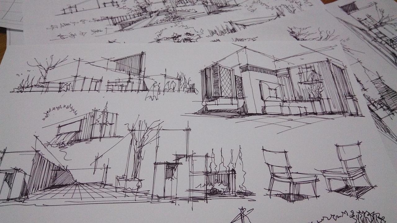 设计手绘草图练习图片
