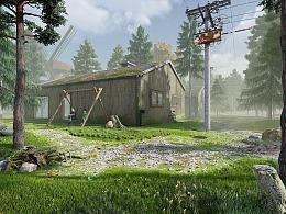 森林木屋场景-lumion8.0