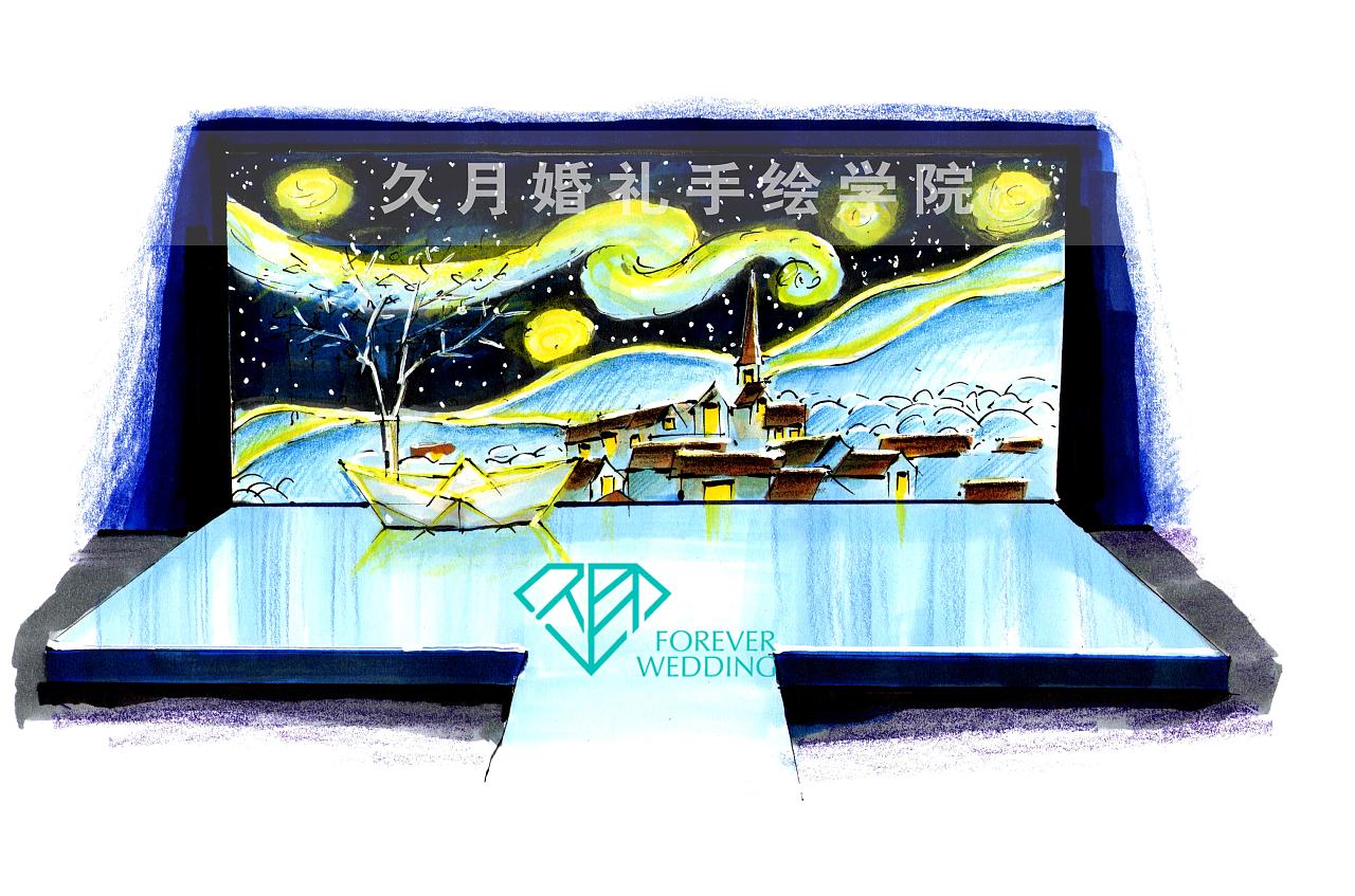 月亮船——久月婚礼手绘