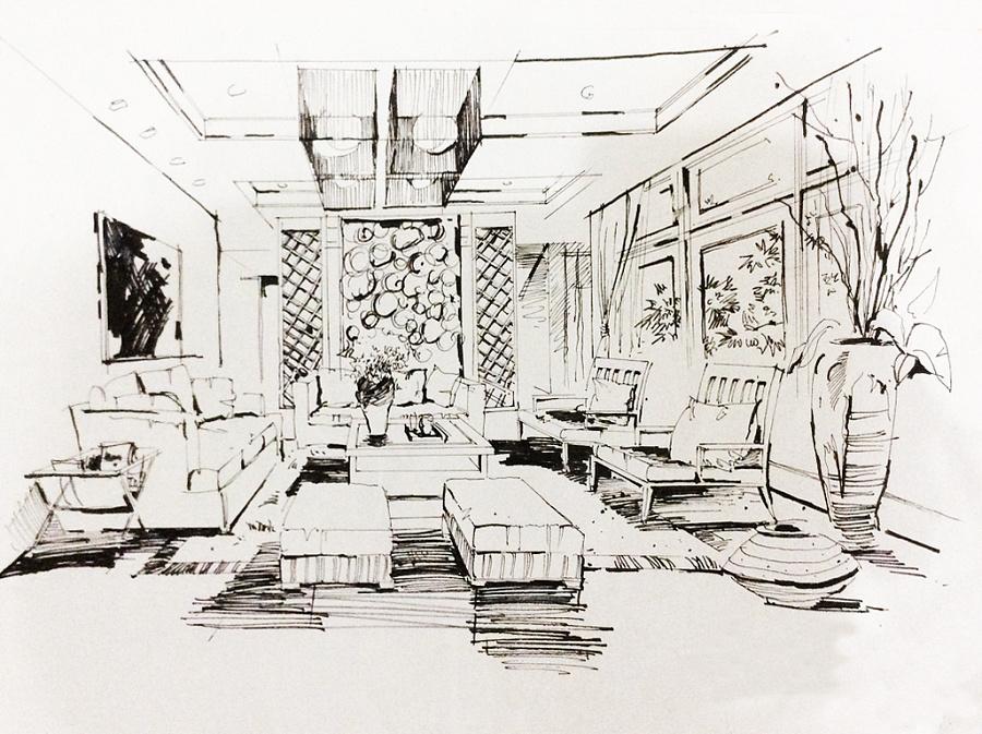 手绘—线稿|景观设计|空间|小辛酱 - 原创设计作品