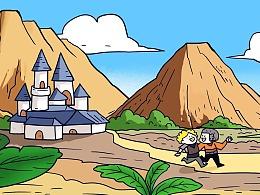 给魔界塔游戏画的漫画,他们用于公众号更新~