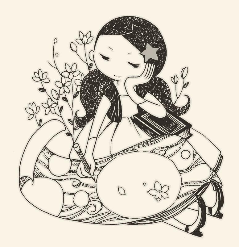 儿童黑白小插图1 儿童插画 插画 zhuazhua83