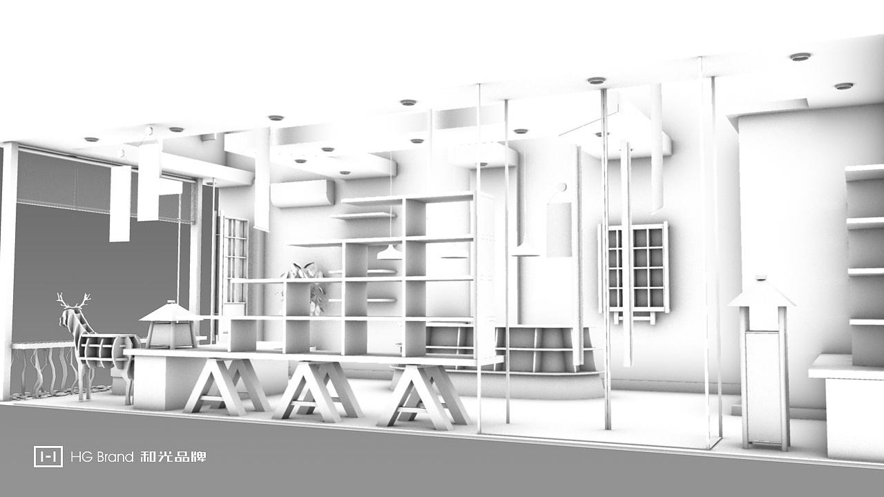 日妆小店的装修直播①--和光品牌设计|空间|室内设计图片