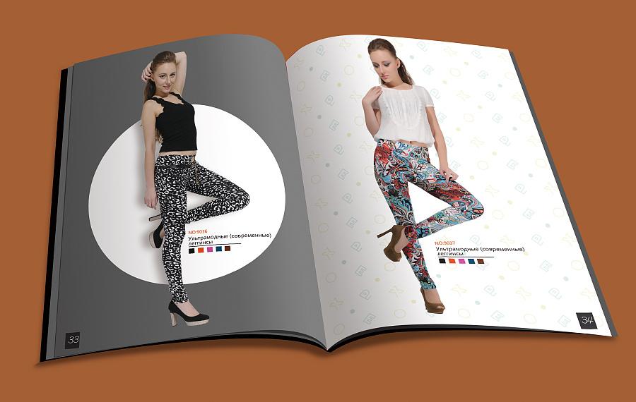 原创作品:俄罗斯服装画册设计图片
