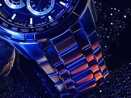 金属钢表广告拍摄布光和后期修饰