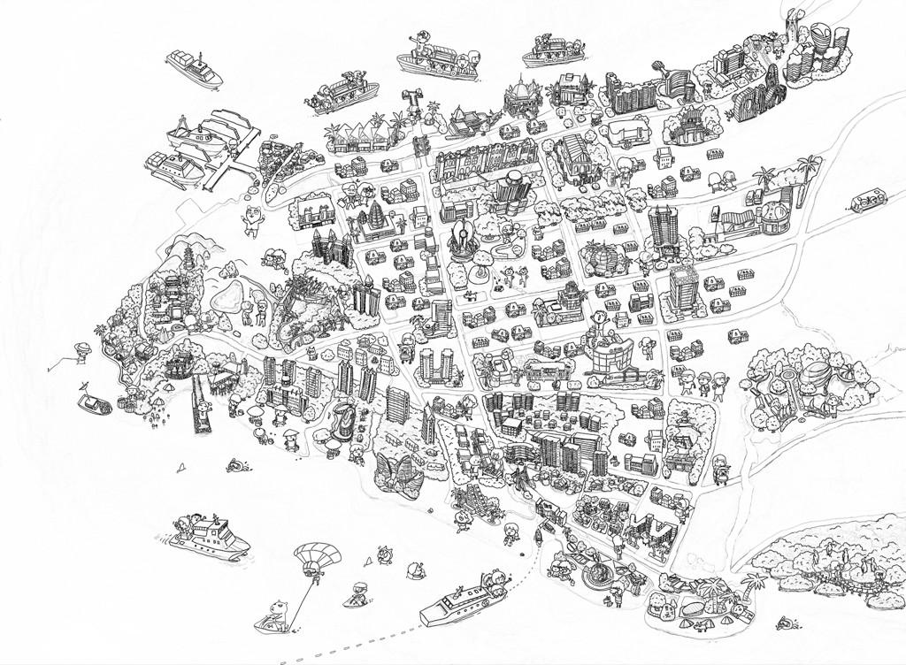 手绘地图|合集四|北海杭州首尔成都苏州重庆
