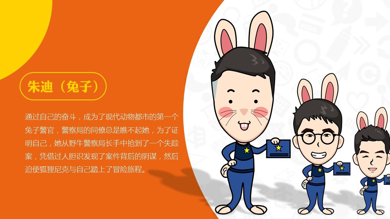 疯狂动物城——人物手绘|平面|ppt/演示|superm110