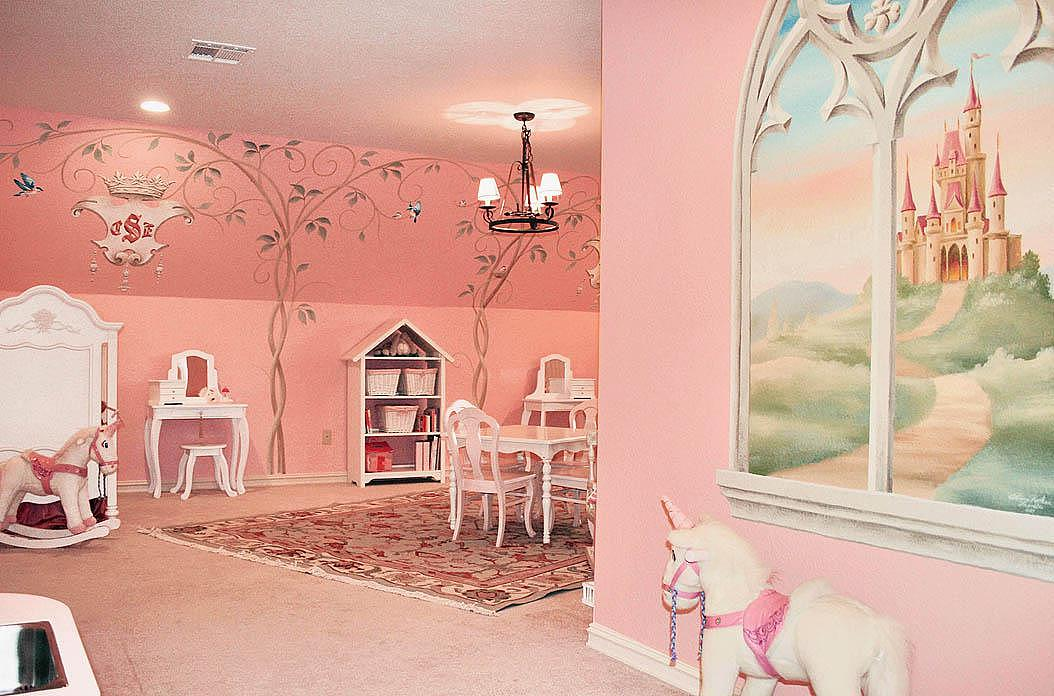 儿童房手绘墙 为宝宝带来梦幻般童年 最近做的作品