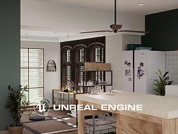厨房 | UE4室内 | 3DMAX  | 室内设计 | 室内展示动画