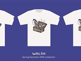 WALSH TEE 插画/平面设计