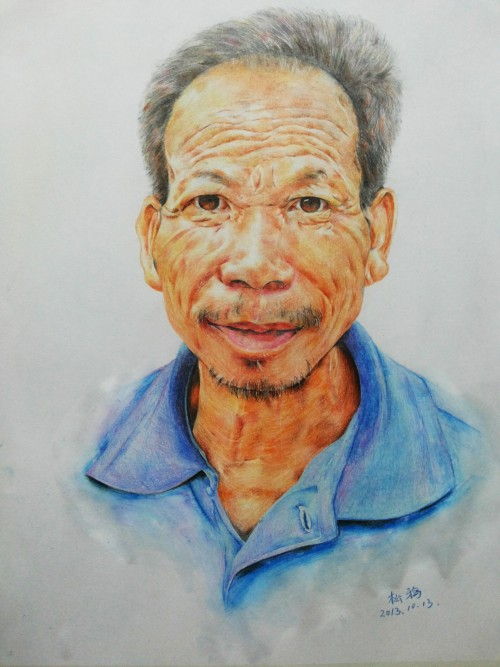 彩铅人物手绘——七公