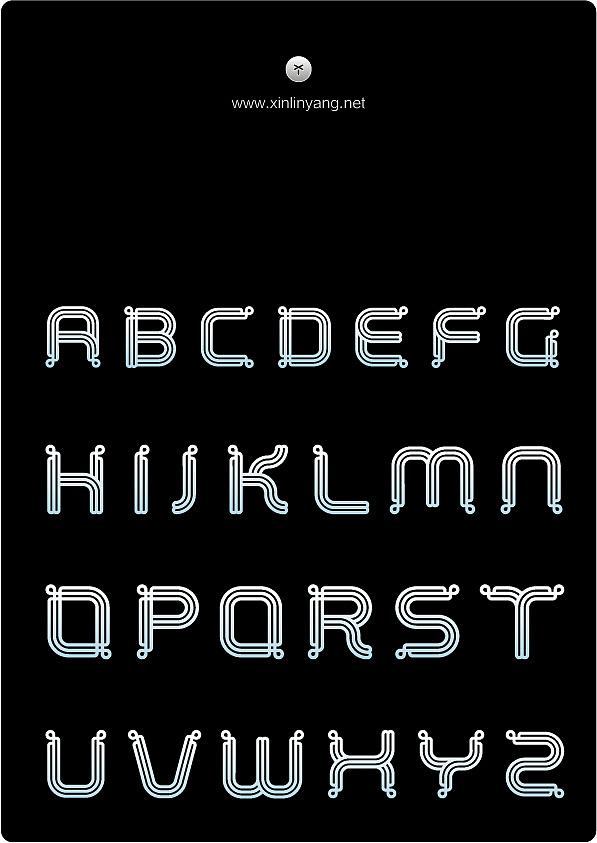 中国式英文字母字体设计