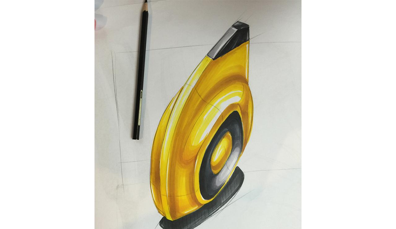 马克笔产品手绘图片-产品设计马克笔手绘图-马克笔手绘玻璃质感图