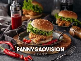 范妮高美食摄影-贝克汉堡