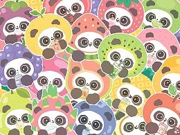 【熊猫软团子】夏日水果季