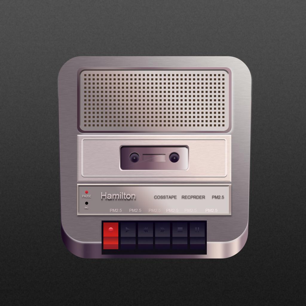 写实icon录音机图片
