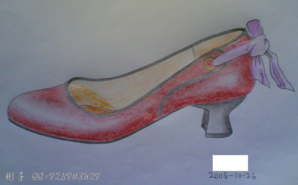 鞋子设计手绘原稿