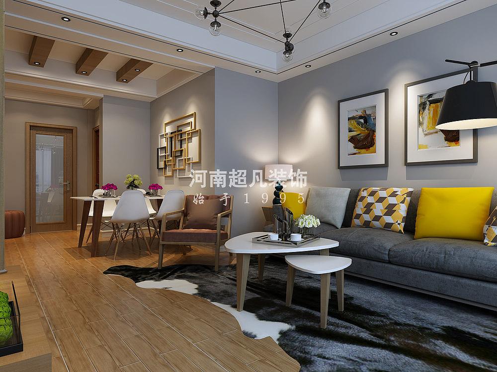 正商案例里94平两居室装修花语v案例 新房 室内设计165平米水电空间设计图图片