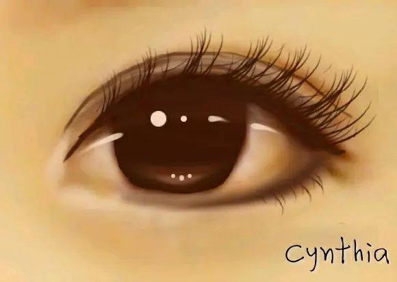 ps手绘-眼睛eyes|单幅漫画|动漫|cynthia赵