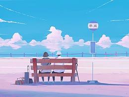 日本唱片封面插画合作——平成那时的爱情