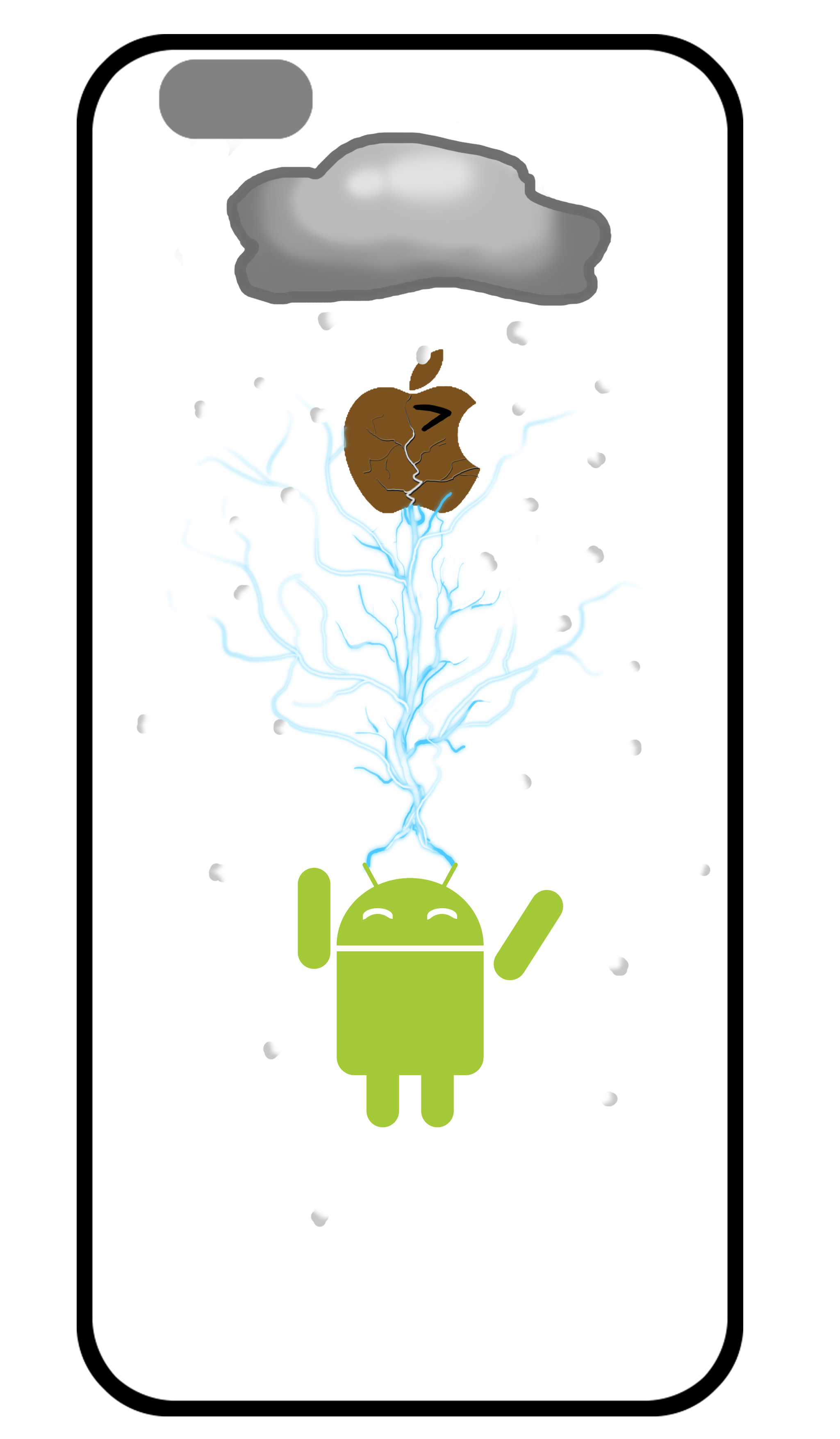 苹果手机壳个性设计|平面|品牌|黑泡沫的飘逸 - 原创图片