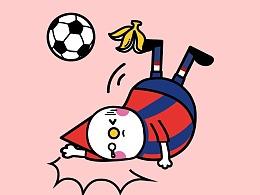 豆米咖&in的世界杯主题贴纸合作