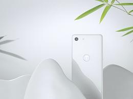 锤子科技坚果手机Pro 2S纯白色 山峦湖海 风光无限