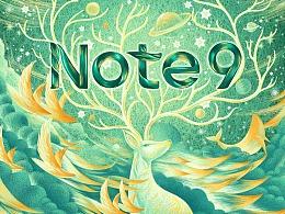 Redmi Note9 主视觉插画