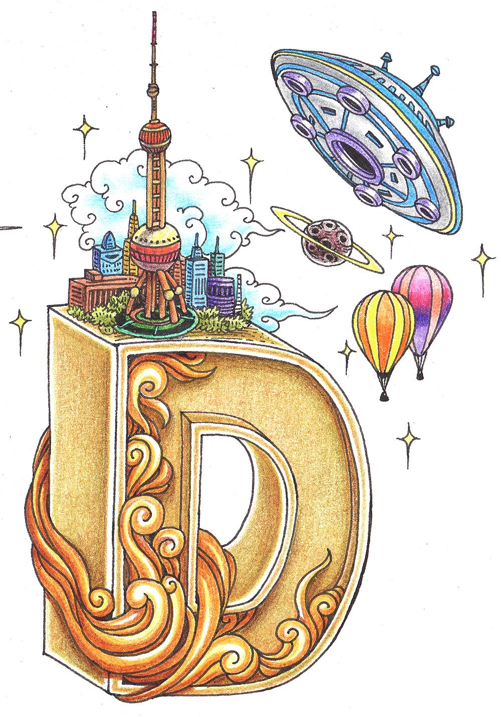 《jfd》彩铅手绘插图|插画|商业插画|傅淳强 - 原创