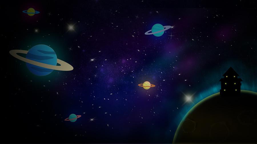 外太空-太空想象图