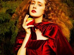 复古宫廷红礼服,兰奕婚纱童话系列